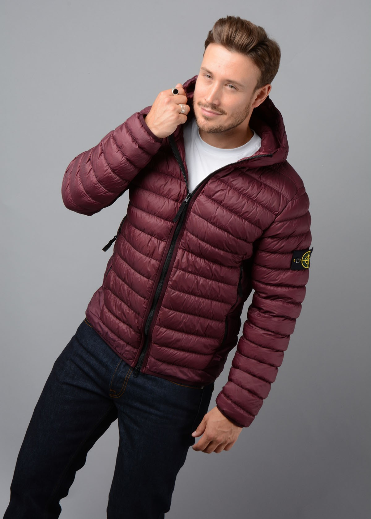 half off 100% authentic reliable quality Stone Island Garment Dyed Micro Down Jacket Burgundy - My Outfit