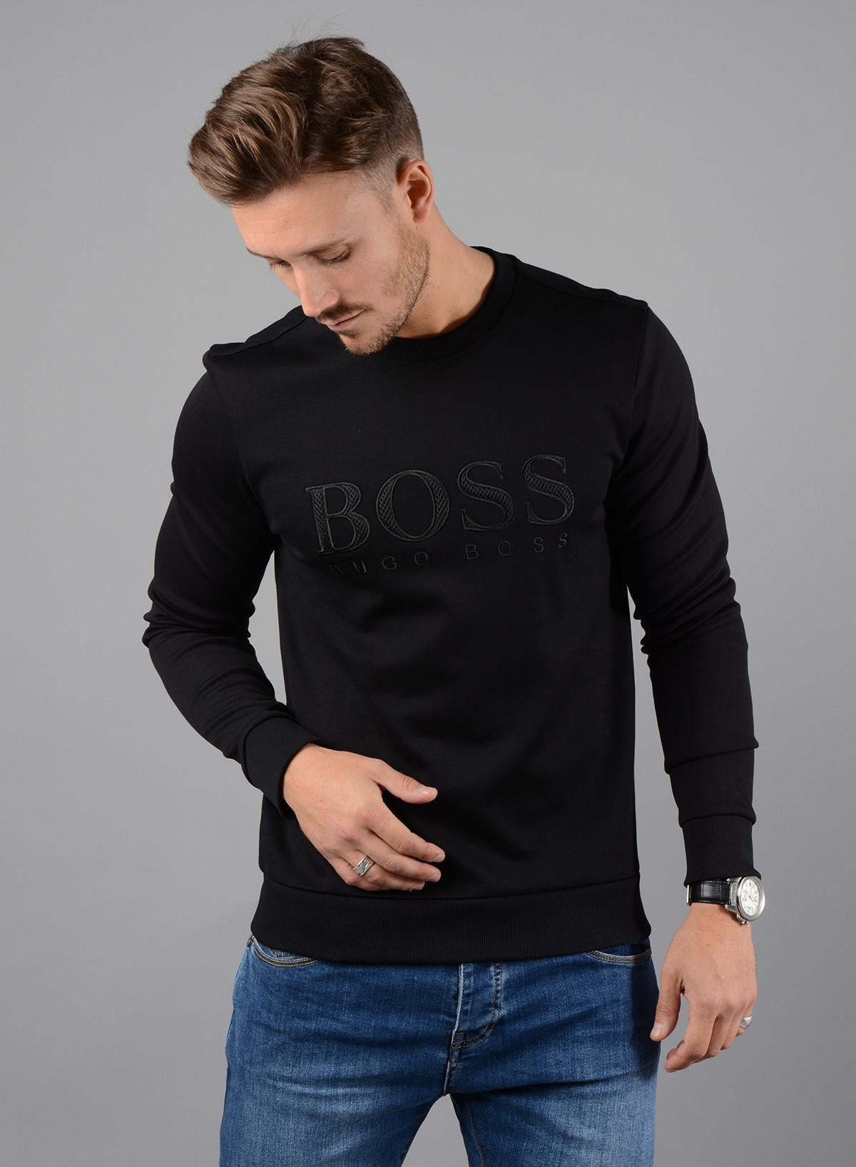 fde9d29c2c 420 x 573. 1200 x 1800. 1200 x 1560. 1200 x 1856 Salbo Slim Fit Sweatshirt  in Black