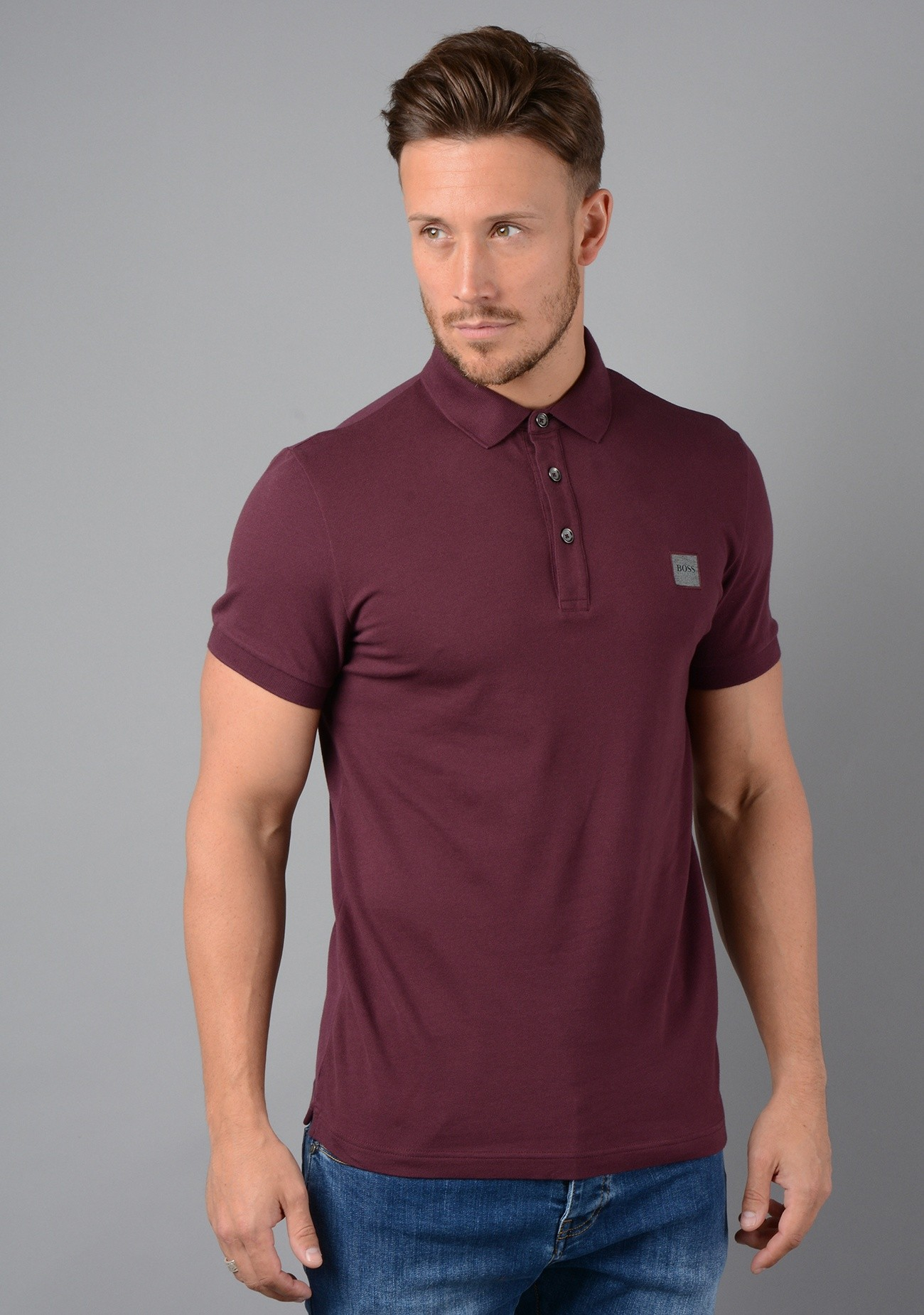 b11496f1 Hugo Boss Slim Fit Polo Shirt in Burgundy - My Outfit