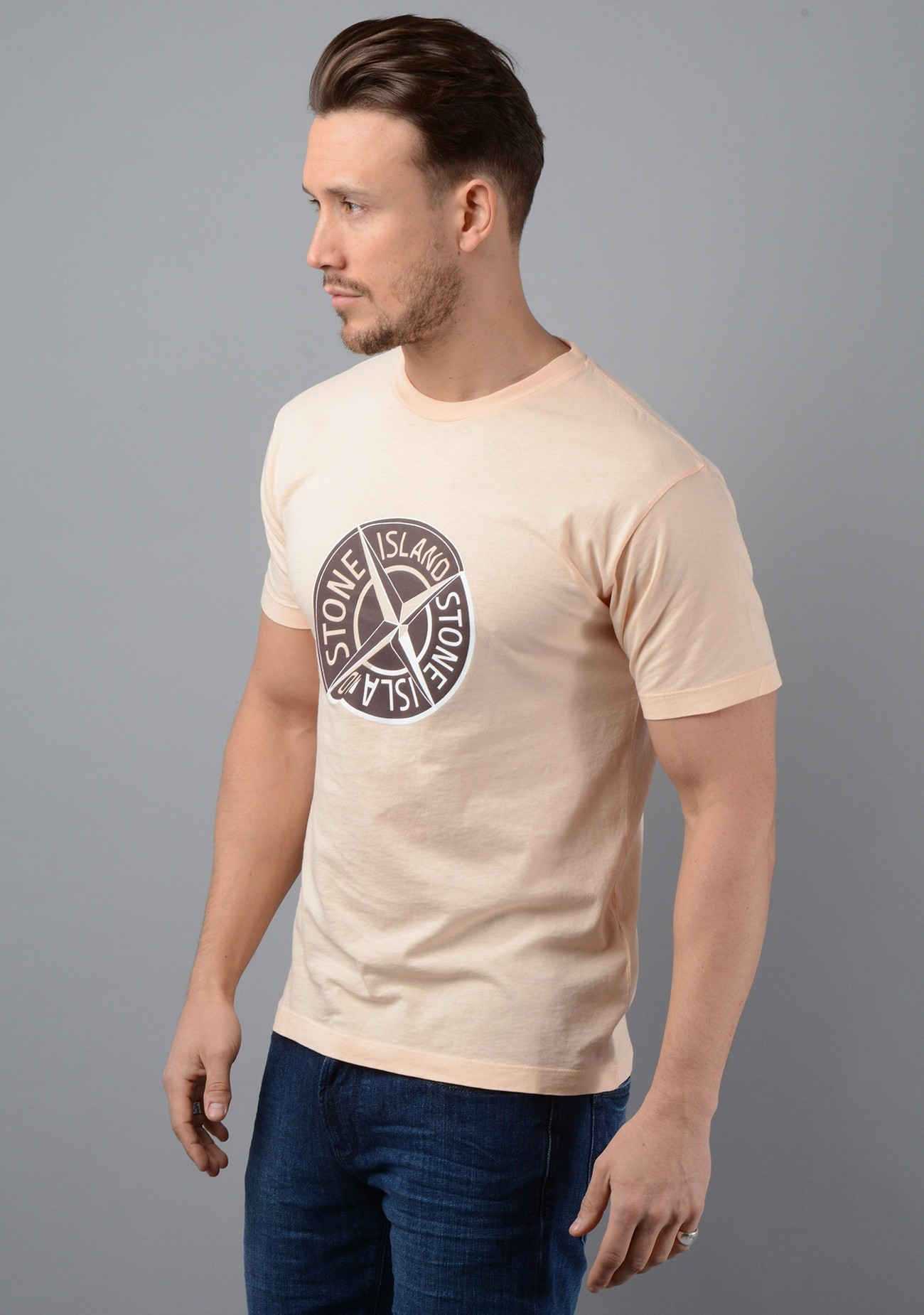 2NS89 Graphic Ten T-Shirt in Peach