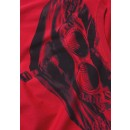 08CMTS108A Goggle T-Shirt in Red