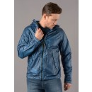 181A NyBer Garment Dyed Goggle Jacket in Lyon Blue