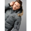 369 Trayer Puffer Jacket in Charcoal