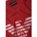 3Z1T88-1J00Z Rubberised Eagle Tee in Red