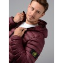 40124 Garment Dyed Micro Down Jacket in Burgundy