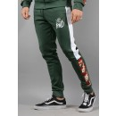 600 Montross Chevron Track Pants in Green