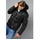 6YPB19 Quilted Hooded Jacket In Black