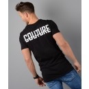 Back Logo Longline T-Shirt in Black