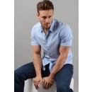 Bowen_R Short Sleeve Shirt in Light Blue