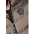 Combat Padded Jacket in Black & Champagne
