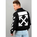 Diag Varsity Jacket In Black