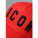 DSQUARED BCM4001 ICON Baseball Cap In Red