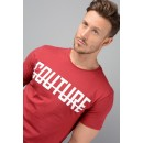 Front Logo Longline T-Shirt in Red