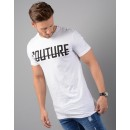 Front Logo Longline T-Shirt in White