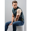 G0124 Garment Dyed Micro Yarn Down Packable Gilet in Green
