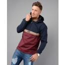 M01JK17 Triple Jacket in Navy & Burgundy