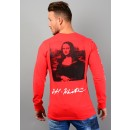 Mona Lisa Long Sleeve T-Shirt In Red