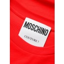 Moschino 0705 T-Shirt With Logo Print in Red