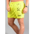 Octopus Swim Shorts in Lime