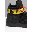 Off White Hi Top Industrial Trainer In Black