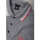 Paddy Polo Shirt in Grey Melange