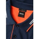 Paul Curved Polo in Navy&Orange