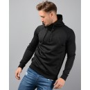 Poly 1/4 Zip Tracksuit Top in Black