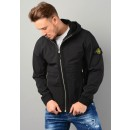 Q0222 Soft Shell-R Hooded Jacket in Black