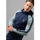 Reflective Lester Poly Tracksuit Top in Navy/Blue