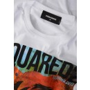 S71GD0625 Orange Scouting T-Shirt In White