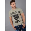 S74GD0289 D2 Bear T-Shirt in Stone