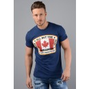 S74GD0379 Canadian Patch T-Shirt In Navy