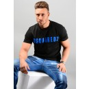 S74GD0488 T-Shirt In Black And Blue