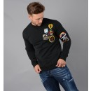 S74GU0206 Patch Sweatshirt in Black