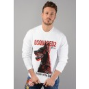 S74GU0251 The Year of the Dog Sweatshirt In White