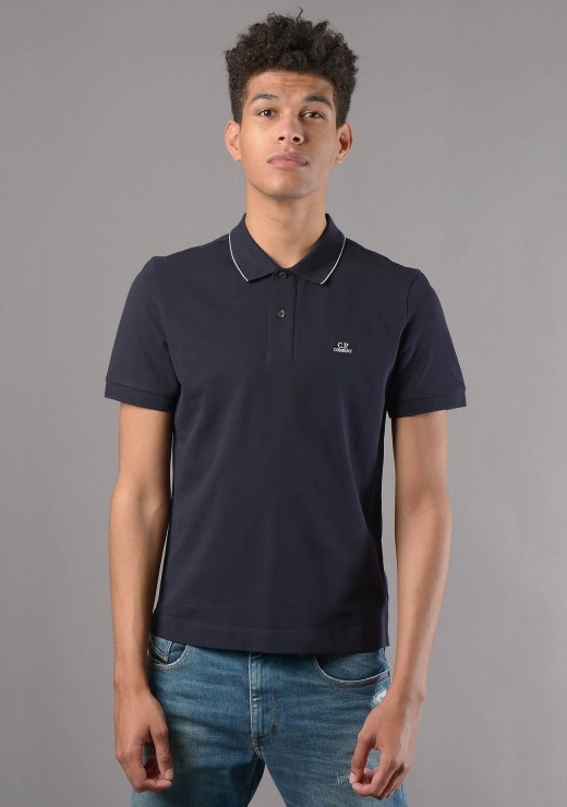 027A Short sleeve Polo in Navy