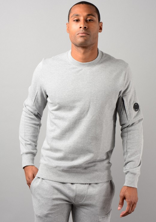 SWEATSHIRTS - 07CMSS082A Diagonal Raised Fleece Sweatshirt in Grey