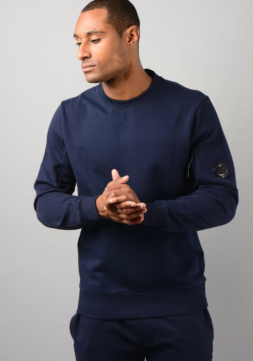 07CMSS082A Diagonal Raised Fleece Sweatshirt in Navy