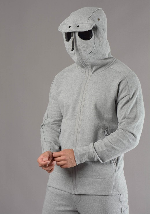C.P. COMPANY - 166A Goggle Hoodie in Grey