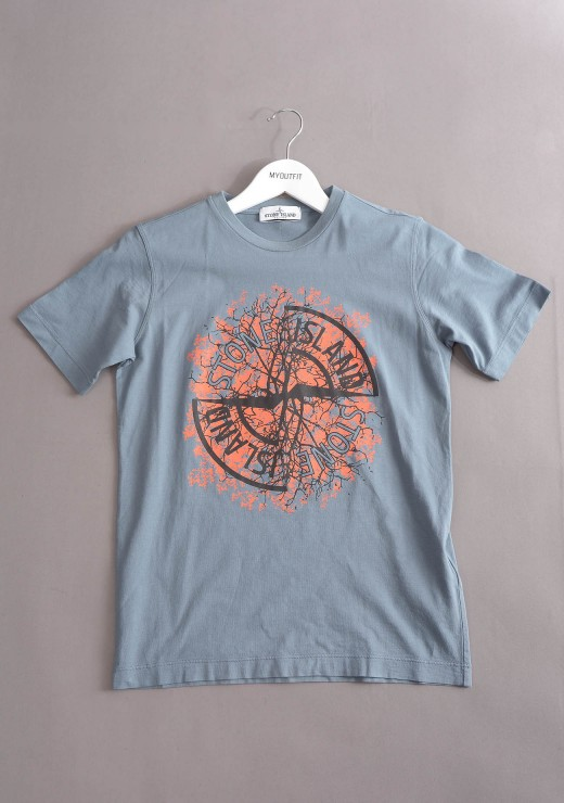 STONE ISLAND JUNIOR - 20157 T-Shirt in Grey