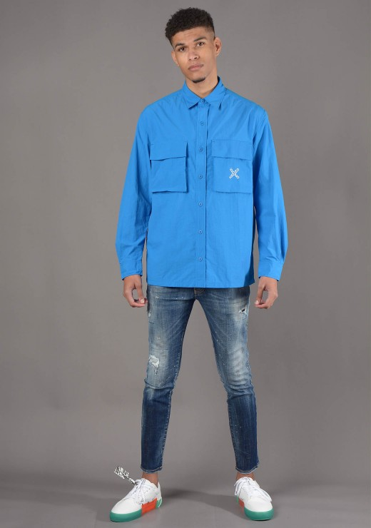 KENZO - 5CH520 Sport Overshirt in Blue