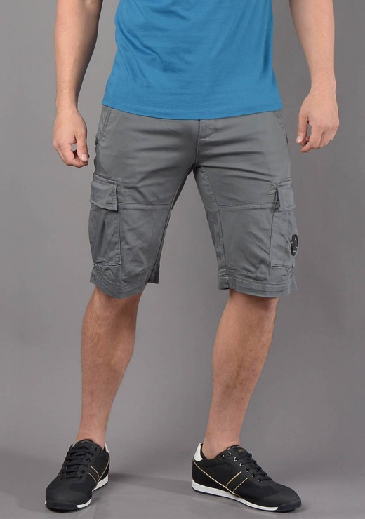 C.P. COMPANY - 77A Cargo Short in Steel