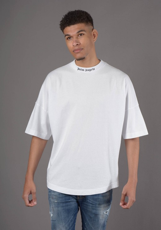 PALM ANGELS  - Classic Logo T-Shirt in White
