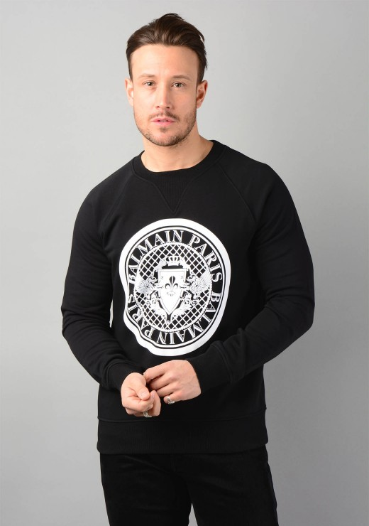 Coin Logo Sweatshirt in Black