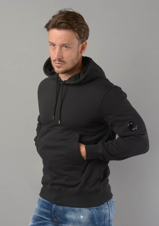 C.P. COMPANY - MSS040A Lens Hoodie in Black