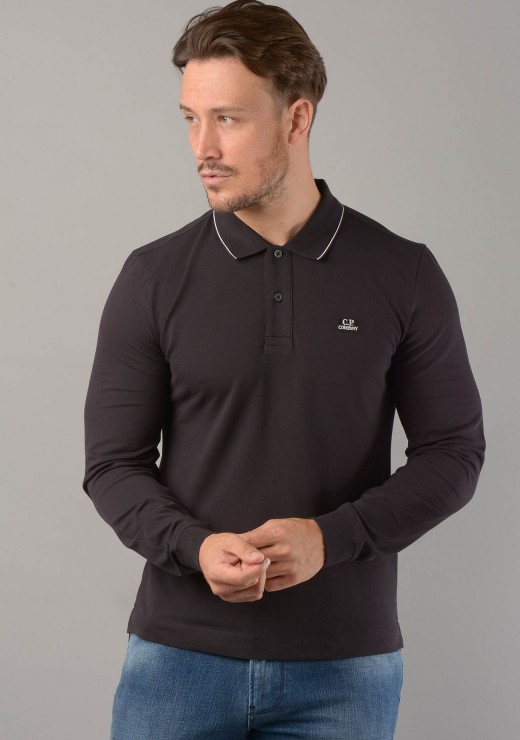 MPL028A L/S Polo in Black