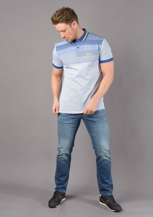 PREMIUM BRANDS - Paddy4 Polo in Blue