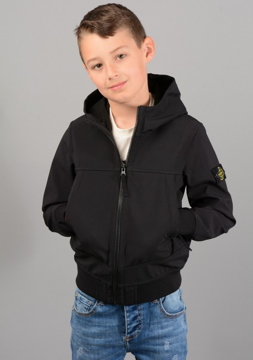 STONE ISLAND JUNIOR - Q0130 Jacket In Black