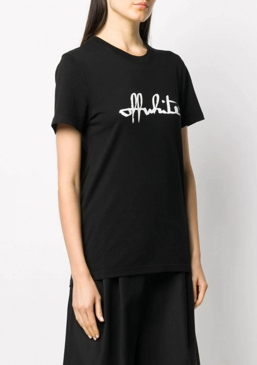 T-SHIRTS - Script logo T-Shirt in Black