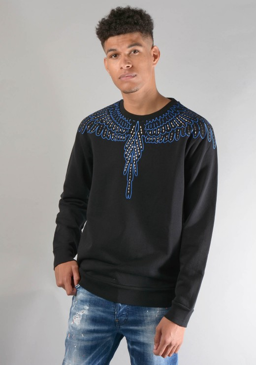 SWEATSHIRTS - Stud Wings Sweatshirt in Black